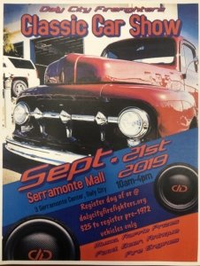 Daly City Firefighters Classic Car Show @ Serramonte Mall   Daly City   California   United States
