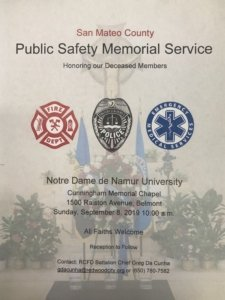 San Mateo County Public Safety Memorial @ Nortre Dame de Namur University   Belmont   California   United States